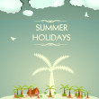 Vintage Summer holidays — Stock Vector