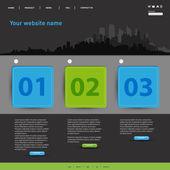 Website modern Template, easy all editable — Stock Vector
