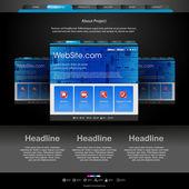 Plantilla de sitio web para los diseñadores — Vector de stock