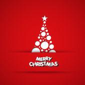 Christmas tree, vector background, easy all editable — Stock Vector