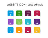Website Set of icons, easy all editable — Stock Vector