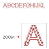 Alphabet baseball style, Vector illustration, easy all editable — Stock Vector