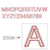 Alphabet baseball style, Vector illustration, easy all editable 2 — Stock Vector