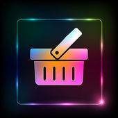 Shopping basket Icon, easy editable — Vecteur