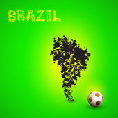 Map of Brazil, easy all editable — Wektor stockowy