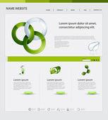 Website Design, Ecological Theme — Stock Vector