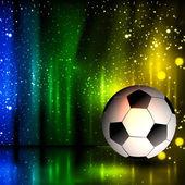 Spotlight football glitters background with soccer ball, easy all editable — Vector de stock