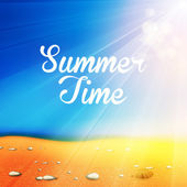 Summer Time Background, you cen easy all editable — Stock Vector