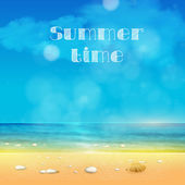 Summer Time, summer background with place for your text easy all — Stock Vector