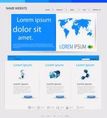 Modello vettoriale web design, facilmente modificabili — Vettoriale Stock