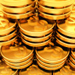 Gold dollar coins background — Stockfoto