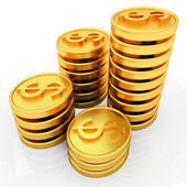 Monety złote dolar — Zdjęcie stockowe