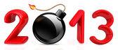 Happy New Year 2013 with bomb burning — Stock Photo