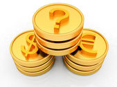 Concept of currency diversification — Stock Photo