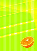 Abstract background of colored stripes and an orange bottom — Stockfoto