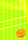 Abstracte achtergrond van gekleurde strepen en een oranje bodem — Stockfoto