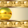 Abstract template with golden ball - Stock Photo