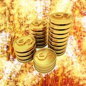 Pengar till semestern — Stockfoto