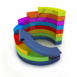 3d colorful abstract diagram and arrow - Stock Photo
