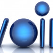 Royalty-Free Stock Photo: Blue metallic word VoIP