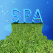"Background image of 3d text ""SPA"" - Stock Photo"