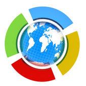 Země a čtyři půlkruh — Stock fotografie