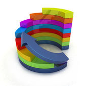 3d colorful abstract diagram and arrow — Stock Photo