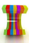 3d colorful abstract shape — Stock Photo