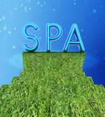 "Background image of 3d text ""SPA"" — Stock Photo"