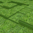 Terraces of grass — Stock Photo