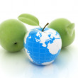 Apple earth and apples — Stock Photo #23524131