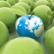 Apple earth and apples — Stock Photo