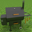 Oven barbecue grill on green grass — Stock Photo #23524749