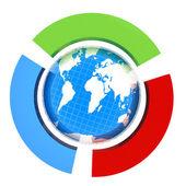 Země a půlkruhy — Stock fotografie