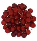 Sweet cherry isolated on white — Stock Photo