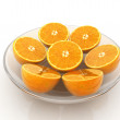 Half oranges — Stock Photo