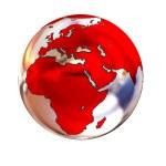 Chrome Globe isolated on white background — Stock Photo