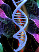 DNA structure model background — Stock Photo