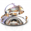 Chrome restaurant cloche — Stock Photo #24239011