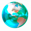 3d globe icon — Stock Photo #24240201