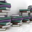 Stack of colorful real books on white background — Stock Photo #24240259