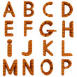 Stock Photo: Wooden Alphabet set