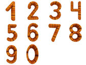Wooden numbers set — Stock Photo