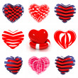 Royalty-Free Stock Photo: Set of various hearts