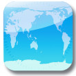 Banner with blue world map — Stock Photo #26447755