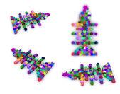 Set van pictogrammen op een thema vis. puzzel. illustratie voor ontwerp — Stockfoto