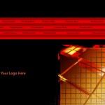Elegant Dark Gold Web Site or Page Design Template — Stock Photo