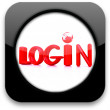 "Glossy icon with text ""login"" — Stock Photo"