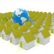 Houses and Earth — Stock Photo #27017593