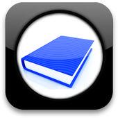 Icono brillante con libro — Foto de Stock